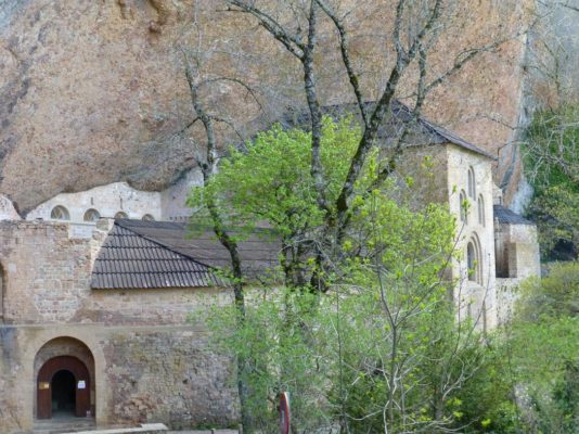 Blog part 24 benedictine monastery of san juan de la pea aragn built under overhanging rock consecrated in 1094 fandeluxe Images
